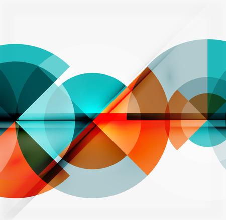 Geometryczny wzór abstrakcyjne tła - wielokolorowe okręgi z cienia skutki. Świeże szablonu biznesu Ilustracje wektorowe