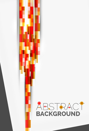 straight lines: Geometrical design background, straight lines on white. Vector template Illustration