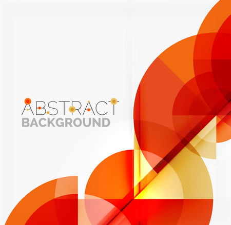 Geometric design abstract background - multicolored circles with shadow effects. Fresh business template Vector Illustration