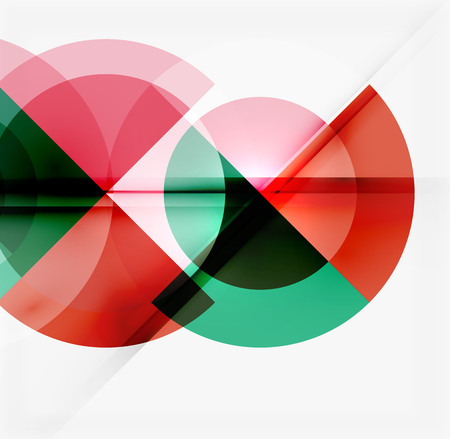 cool background: Geometric design abstract background - multicolored circles with shadow effects. Fresh business template
