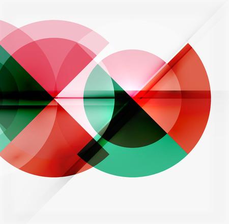 Diseño geométrico abstracto - círculos multicolores con efectos de sombra. Plantilla de negocios fresca