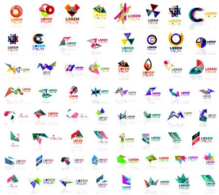 abstract logos: Mega set of geometrical abstract logos. Company universal concept branding identity emblems, symbols, elements