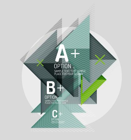 Geometrische Formen der Papierartzusammenfassung mit infographic Wahlen. Abstrakte universal Design-Vorlage. Vektor-Illustration Standard-Bild - 51913354