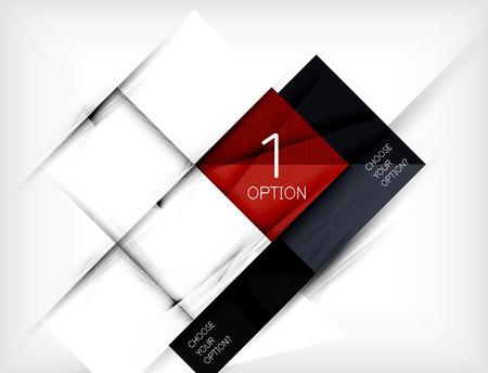 gestalten: Papier quadratischen Formen Banner. Vektor Illustration