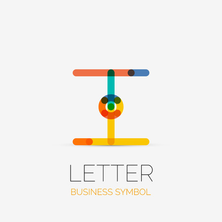Minimalistic Letter Linear Business Icons Logos Made Of