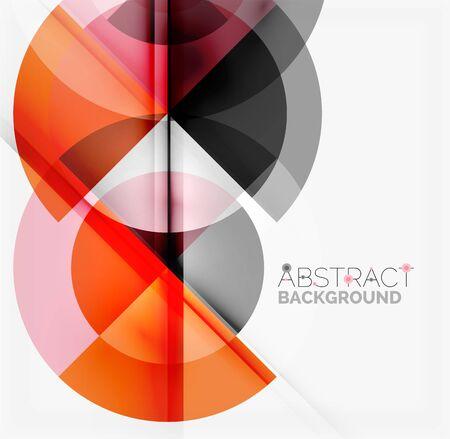 disegno geometrico astratto - cerchi multicolori con effetti d'ombra. modello di business Fresh