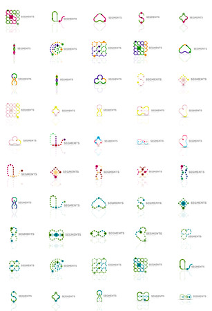 logotypes: Abstract company logo vector collection. Set of thin line design abstract logotypes. Universal branding concepts. Vector illustration