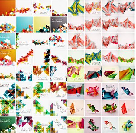 Mega ensemble de modèles géométriques différents de style. Vector abstract horizons
