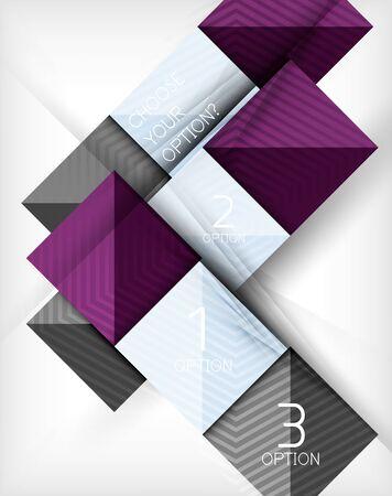 cuadrados: Vector cuadrados de fondo abstracto. Concepto de diseño Infografía Vectores