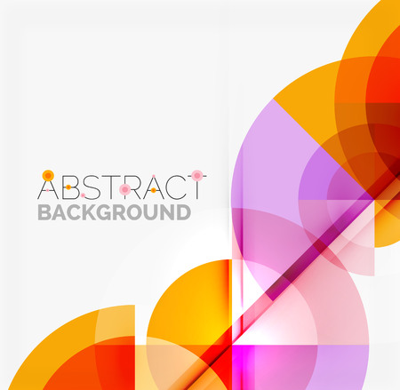 geometric shapes: Geometric design abstract background - multicolored circles with shadow effects. Fresh business template