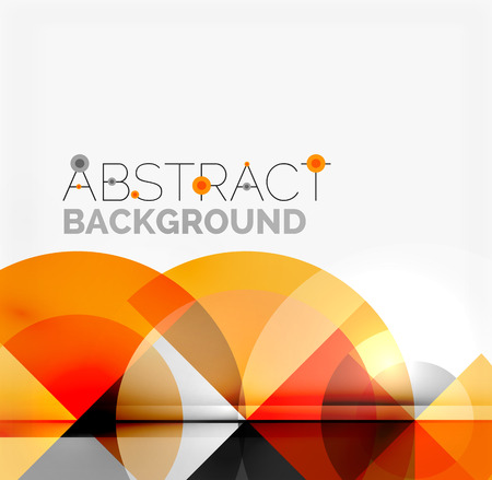 Geometric design abstract background - multicolored circles with shadow effects. Fresh business template Vektoros illusztráció