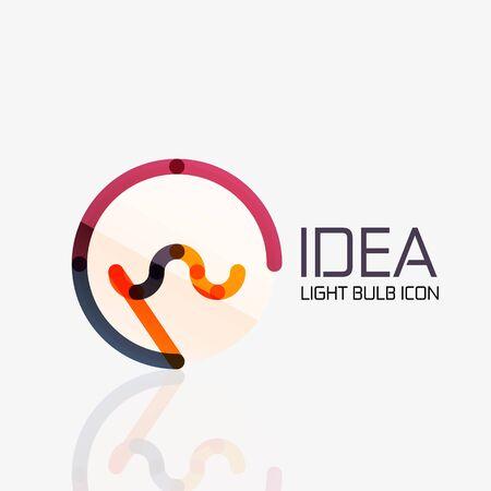 fresh idea: Vector light bulb abstract linear geometric business icon. Fresh modern idea concept