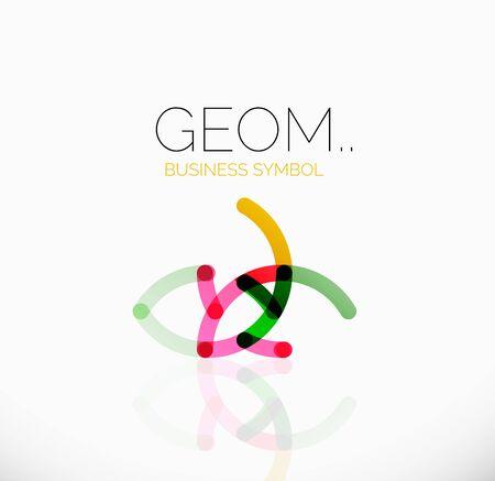 Logo, abstracta geométrica lineal icono empresarial Logos