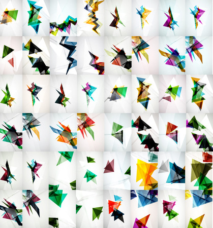 rapid: Rapid geometric motion concepts. Set of vector triangle abstract backgrounds Illustration