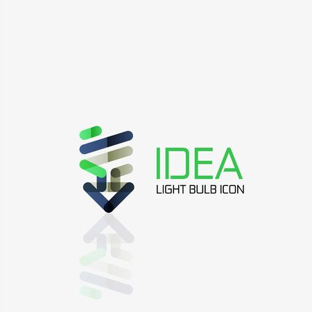 fresh idea: vector light bulb abstract linear geometric business icon. Fresh modern idea concept Illustration