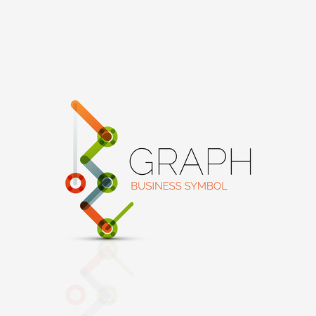segments: Creative logotype design template made of overlapping multicolored line segments Illustration