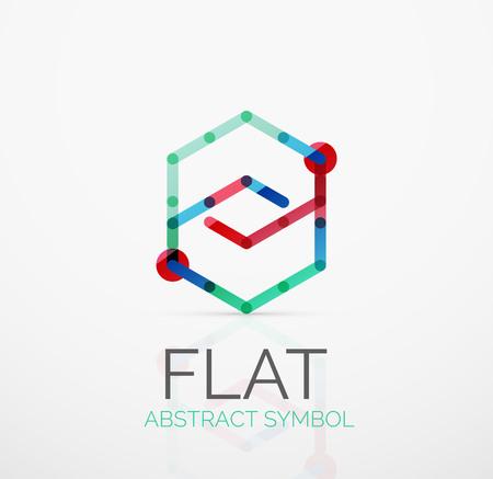 minimalistic: Logo - abstract minimalistic linear flat design. Illustration