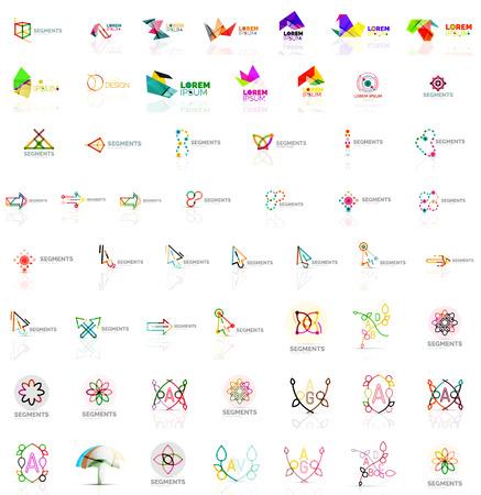 abstract logos: Mega collection of various abstract universal logos. Vector illustration