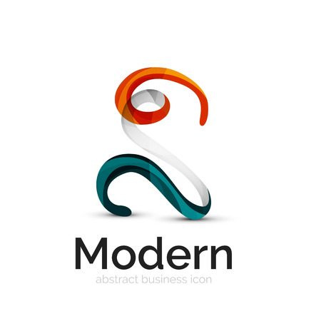 social movement: Ribbon swirl business vector logo