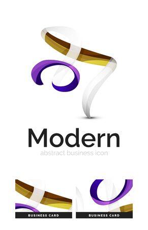 swirl: Ribbon swirl business vector logo