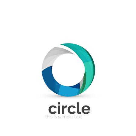 round logo: Abstract swirly round logo template. Vector illustration Illustration