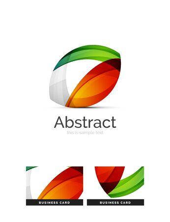 logotipo del círculo. Transparentes superpuestas formas de remolino. Moderna del icono del asunto limpio. Ilustración del vector.