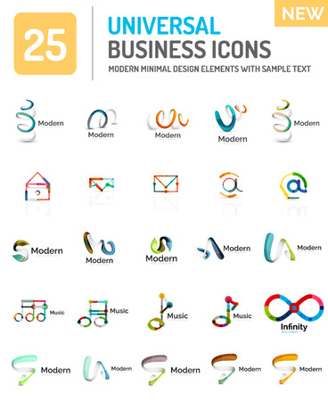Vector set of various new universal business logos