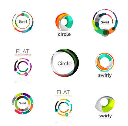 variety: Vector collection of various circle logos