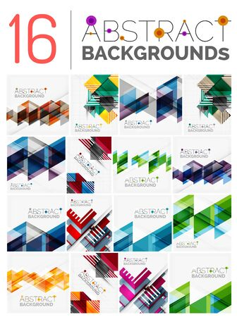 square abstract: Collection of modern abstract square, triangle and line design vector backgrounds
