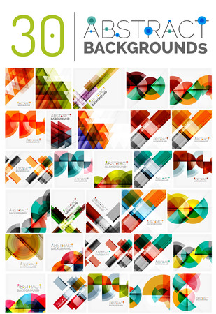 multipurpose: Collection of various multipurpose modern abstract backgrounds, geometric style
