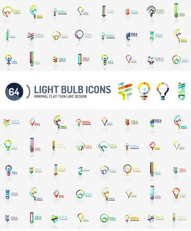 mega: Mega collection of light bulb logos Illustration
