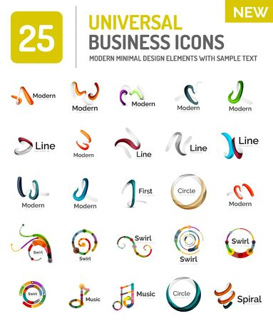 proffesional: Abstract business icons, vector logo collection