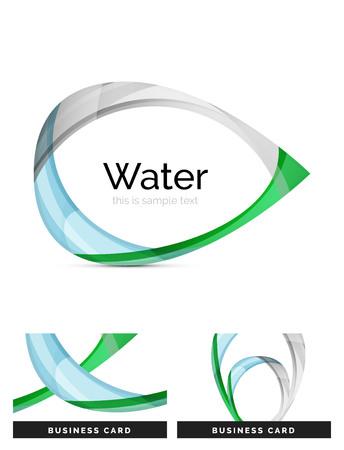 Abstract geometrisch waterdruppelontwerp - embleempictogram of achtergrond