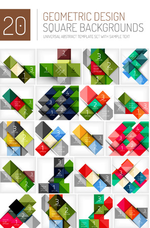 square shape: Set of square shape abstract backgrounds. Banner templates