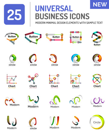 various: Vector set of various new universal business Illustration