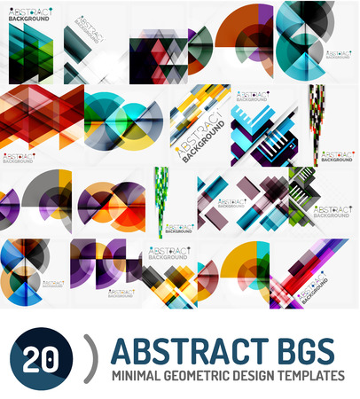 futuristic wallpaper: Collection of geometric vector backgrounds