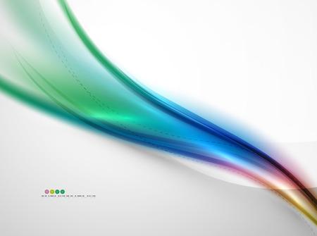 black light: Rainbow color glossy silk elegant wave. Vector abstract background Illustration