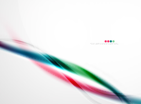 raibow: Smooth raibow color gradients in vector business wave template. Realistic detailed