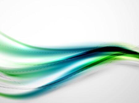 coporate: Blue glossy silk wave design template. Vector modern coporate identity pattern Illustration