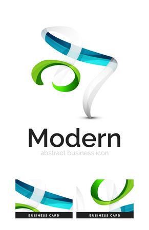 swirl: Ribbon swirl business vector