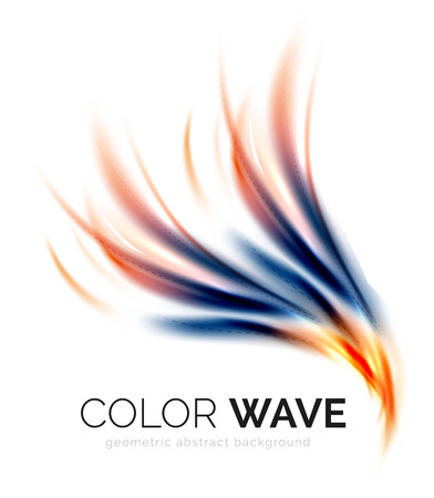 coporate: Glossy wave isolated on white background. Vector modern futuristic curve lines, coporate identity design