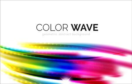 Brouillé éléments de conception de vague vecteur avec des effets de lumière brillant