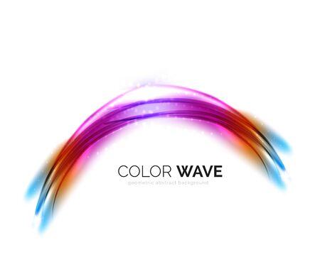 Brouillé éléments de conception de vague vecteur avec des effets de lumière brillant Vecteurs