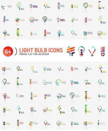 energia electrica: Mega colección de logotipos de la bombilla