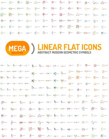 icon collection: Thin line abstract logo mega collection, modern flat design Illustration