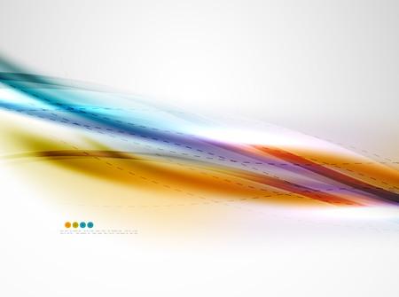 elegant wave: Rainbow color glossy silk elegant wave. Vector abstract background Illustration