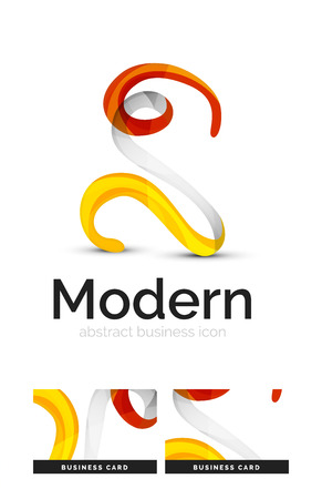 swirl: Ribbon swirl business vector