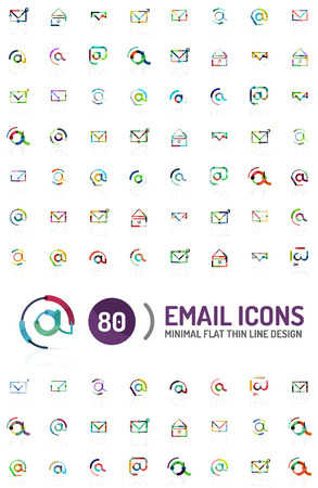 mega: Mega collection of email icon Illustration