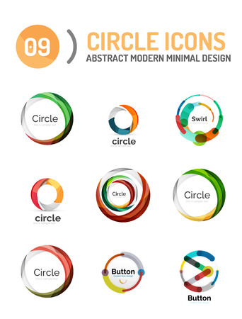 various: Vector collection of various circle icons Illustration