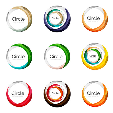 abstract swirls: Set of abstract swirls and circles, logo vector collection
